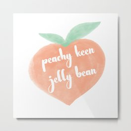 Peachy Keen Jelly Bean Metal Print