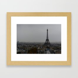 Gloomy Paris Framed Art Print