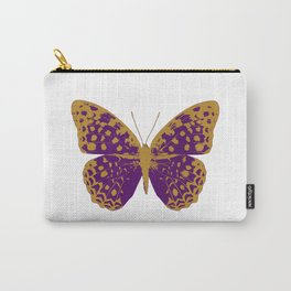 Purple Butterfly Carry-All Pouch