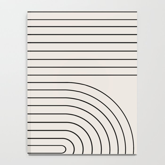 Minimal Line Curvature - Black and White I Notebook
