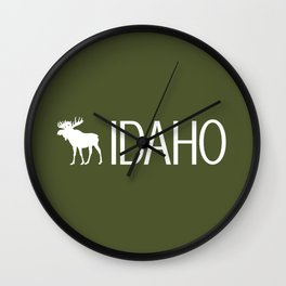 Idaho: Moose (Mountain Green) Wall Clock