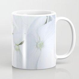 White hortensia flowers Coffee Mug