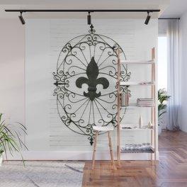 Wrought Iron Fleur de Lis Wall Mural