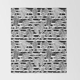 Beautiful Black and White Australiana Print Throw Blanket