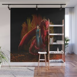 Queen of the Dragon Wall Mural
