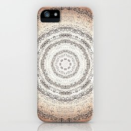 Vintage Ancient Words Mandala iPhone Case