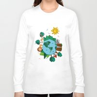 planet Long Sleeve T-shirts featuring Planet by Design SNS - Sinais Velasco