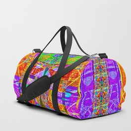 Geometric Futuristic Quilt 1: Space Cape Duffle Bag