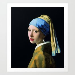 Jan Vermeer Girl With A Pearl Earring Art Print