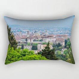 Bergamo, Citta Alta city view Rectangular Pillow