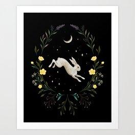 Easter Bunny Night 1 Art Print