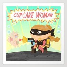 Cupcake woman Art Print