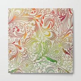 Festive Pattern Metal Print