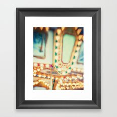 I Heart Carousels Framed Art Print