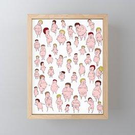 Men Framed Mini Art Print