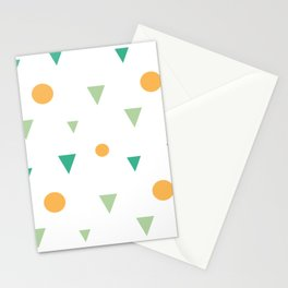 abstract colorful geometric shapes triangles and circles pattern Stationery Cards