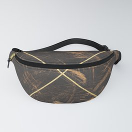 Gold & Paint Strokes 01 Fanny Pack