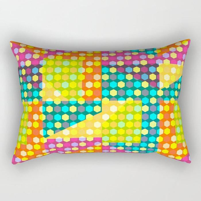 Colorful hexagons Rectangular Pillow