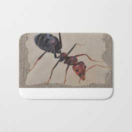 Black and Red Ant Bath Mat