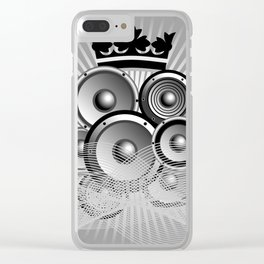 Abstract music illustration with wings Clear iPhone Case