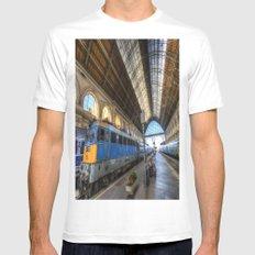 Budapest Keleti Railway Station Mens Fitted Tee MEDIUM White