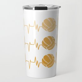 Coffee and Volleyball Served Hot Travel Mug