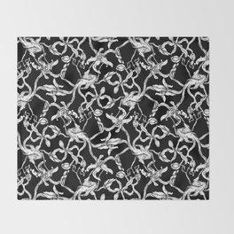 Pattern: Dark Floral Throw Blanket