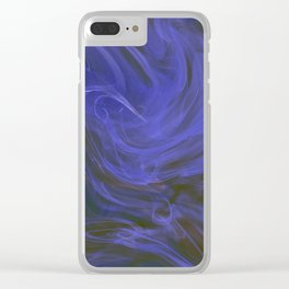Blue tempest Clear iPhone Case