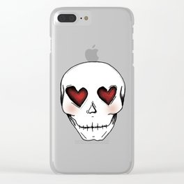 Skull lover Clear iPhone Case