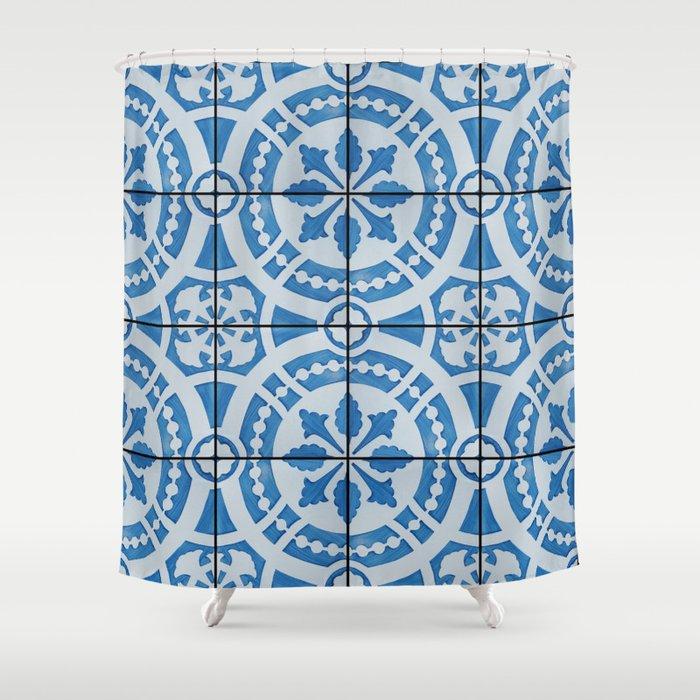 Azulejos 95 Shower Curtain