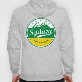 Sydney City, Australia, circle, green yellow Hoody