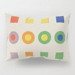 Chevreul Laws of Contrast of Colour, Plate VI, 1860, Remake, vintage wash Pillow Sham