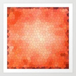 Red-orange mosaic abstraction Art Print