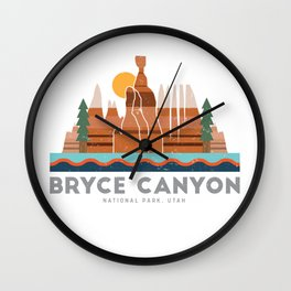 Bryce Canyon National Park Utah Graphic Wall Clock