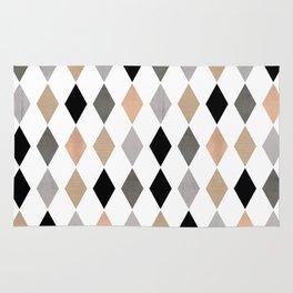 Scandinavian pattern . Grunge. Diamonds . Rug
