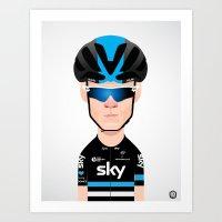 Chris Froome Team Sky - 2016 kit Art Print