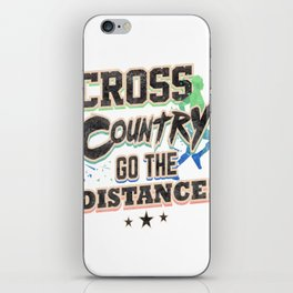 Runner Cross Country Go the Distance Running Addict iPhone Skin