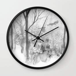 Crows & Trees Wall Clock