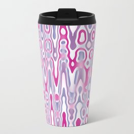 Abstract Pink Jiggle Travel Mug