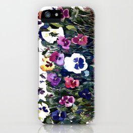 Pansies Watercolor iPhone Case