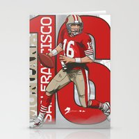 nfl Stationery Cards featuring NFL Legends: Joe montana 49ers by Akyanyme