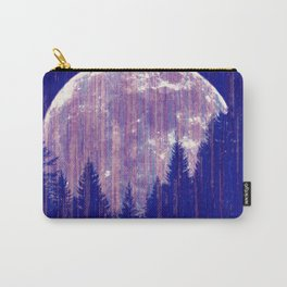 Full moon and stars - stripes Carry-All Pouch