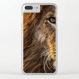 Majestic Lion Clear iPhone Case