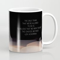levi Mugs featuring Levi Ackerman by Book Ink Boutique