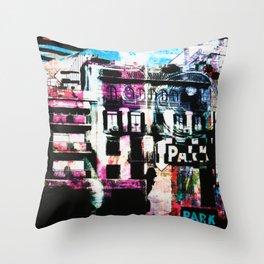 City Choas Throw Pillow