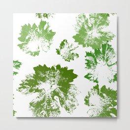 Green leaves stamp Metal Print