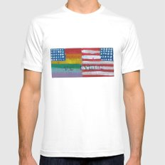 Flags For The Future 4: Power To The People MEDIUM White Mens Fitted Tee
