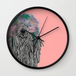 Dredlock Dog (Pastel Pink Edition) Wall Clock