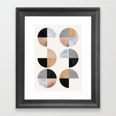 Circle Granite Quaters Framed Art Print