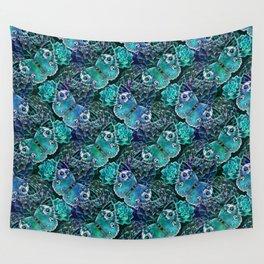 Butterflies In Blue Wall Tapestry